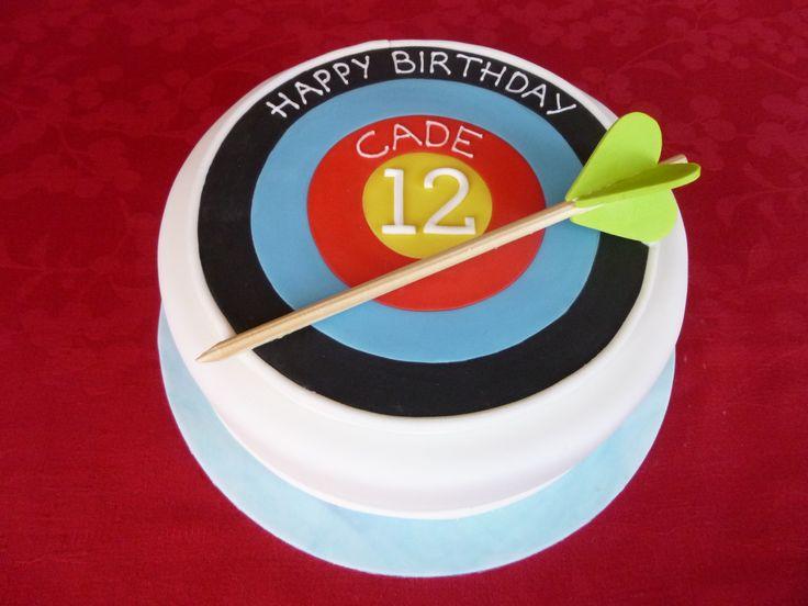 Fantastic 10 Target Birthday Cakes Photo Archery Target Birthday Cake Personalised Birthday Cards Beptaeletsinfo