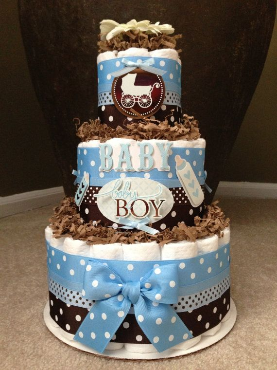 9 Cakes In Blue And Brown Baby Shower Ideas Photo Blue And Brown