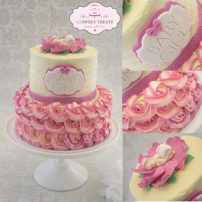 Buttercream Baby Shower Cake Ideas