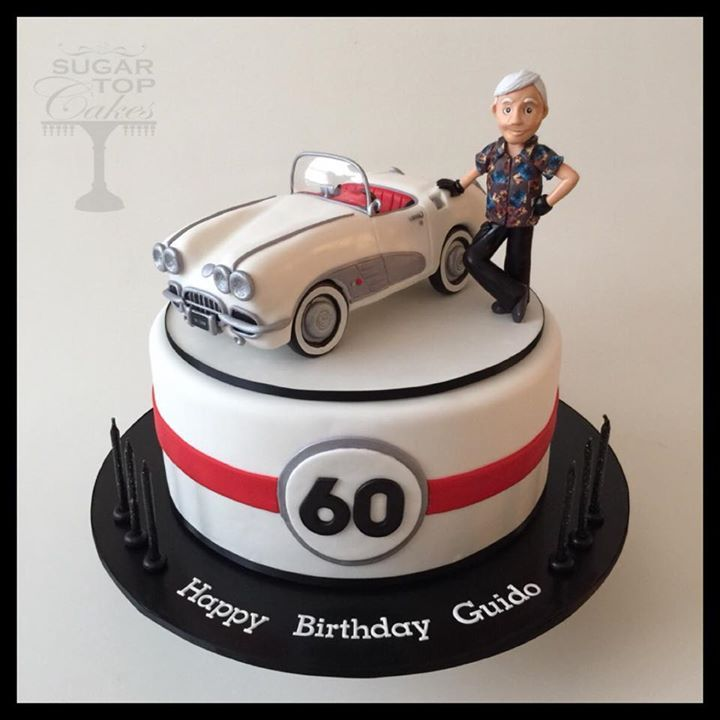 10 Happy Birthday Car Cakes For Men Photo Corvette Cake