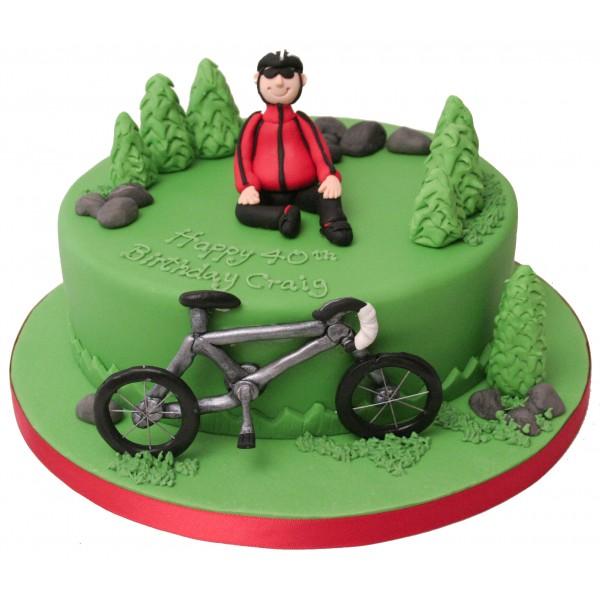 7 40th Birthday Cakes For A Cyclist Photo Cyclist Birthday Cake