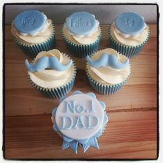 6 Happy Father S Day Cupcakes Photo Father S Day Father S Day