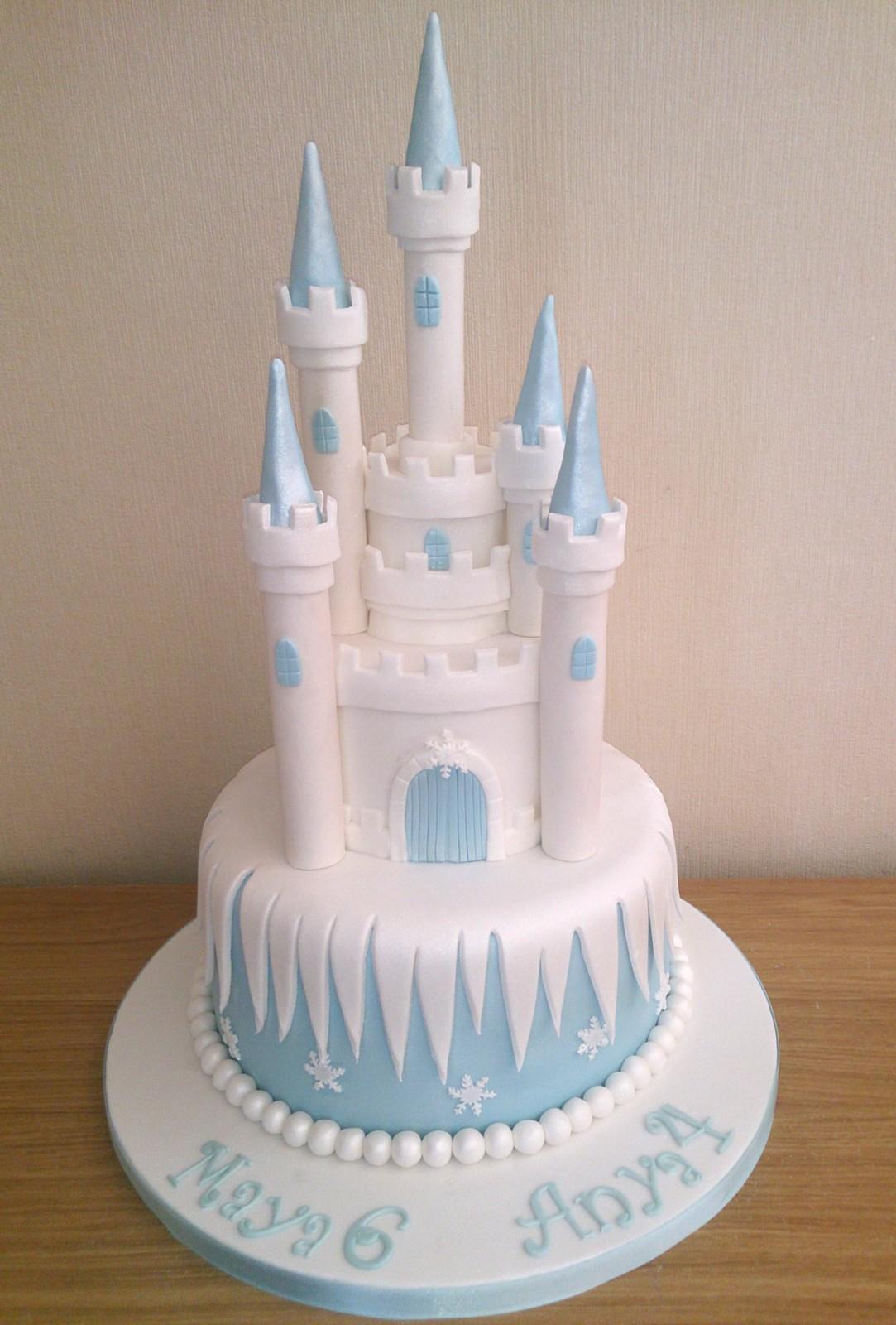 Outstanding 11 Disney Frozen 2 Tier Cakes Photo Disney Frozen Birthday Cake Personalised Birthday Cards Beptaeletsinfo