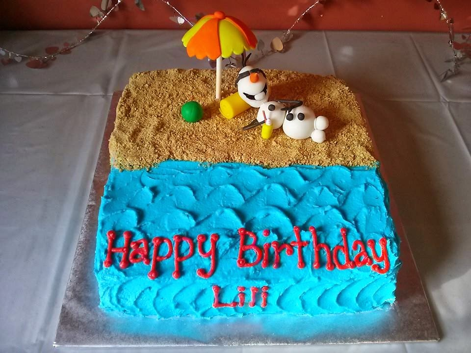 Marvelous 11 Olaf Summer Birthday Cakes Photo Frozen Summer Olaf Birthday Funny Birthday Cards Online Alyptdamsfinfo