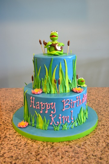Incredible 11 Kermit Rainbow Birthday Cakes Photo Muppet Cake Rainbow Funny Birthday Cards Online Sheoxdamsfinfo