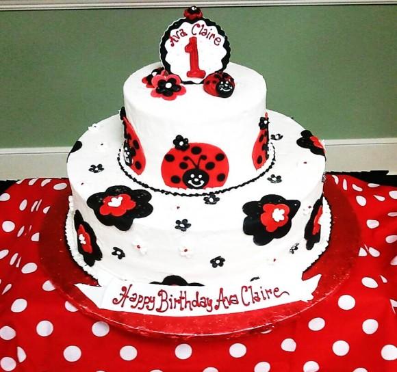 Swell 10 Ladybug Birthday Cakes For Girls Photo Ladybug First Birthday Funny Birthday Cards Online Kookostrdamsfinfo