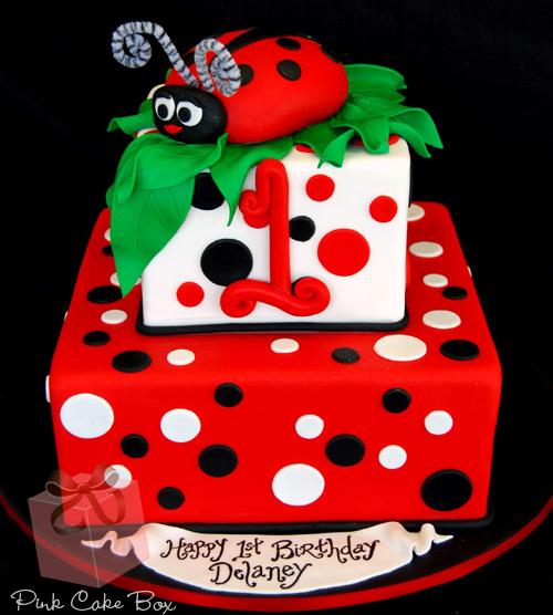 Remarkable 10 Ladybug Birthday Cakes For Girls Photo Ladybug First Birthday Funny Birthday Cards Online Aeocydamsfinfo