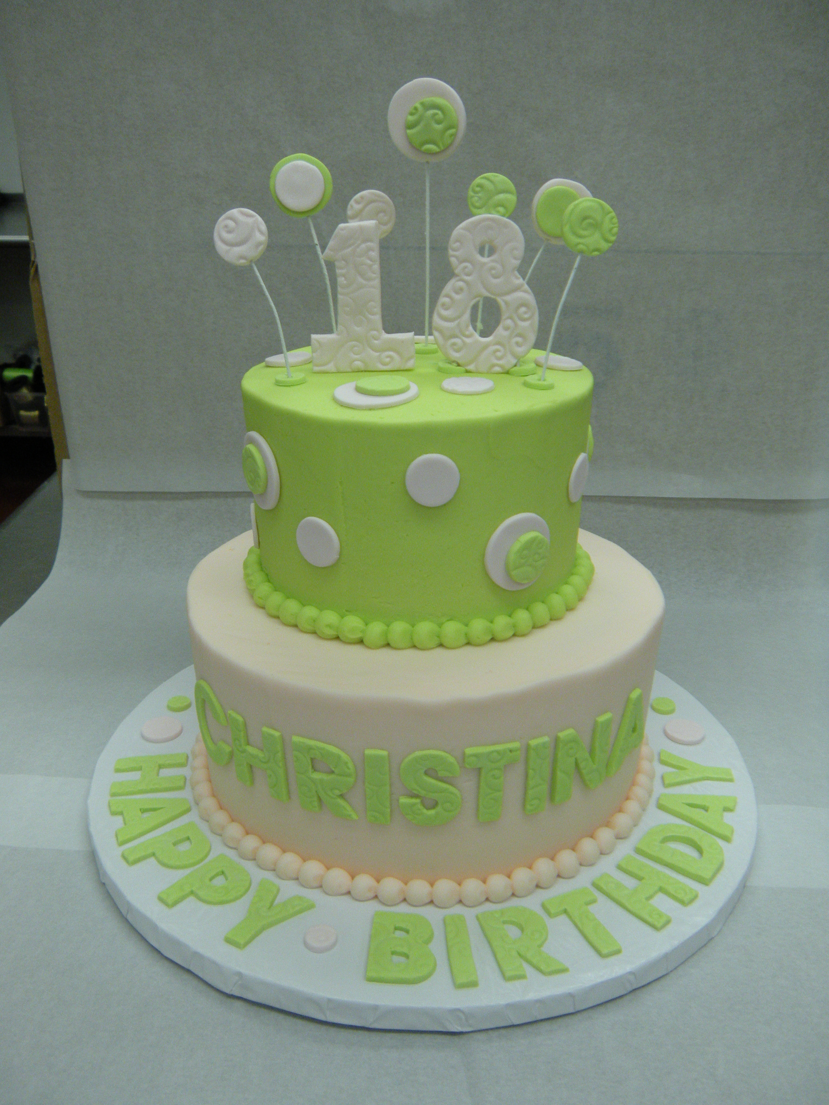 Stupendous 11 Pink And Green Birthday Cakes For Girls Photo Cute 1St Personalised Birthday Cards Epsylily Jamesorg