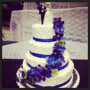 10 Dark Dark Green And Purple Wedding Cakes Photo Blue Green