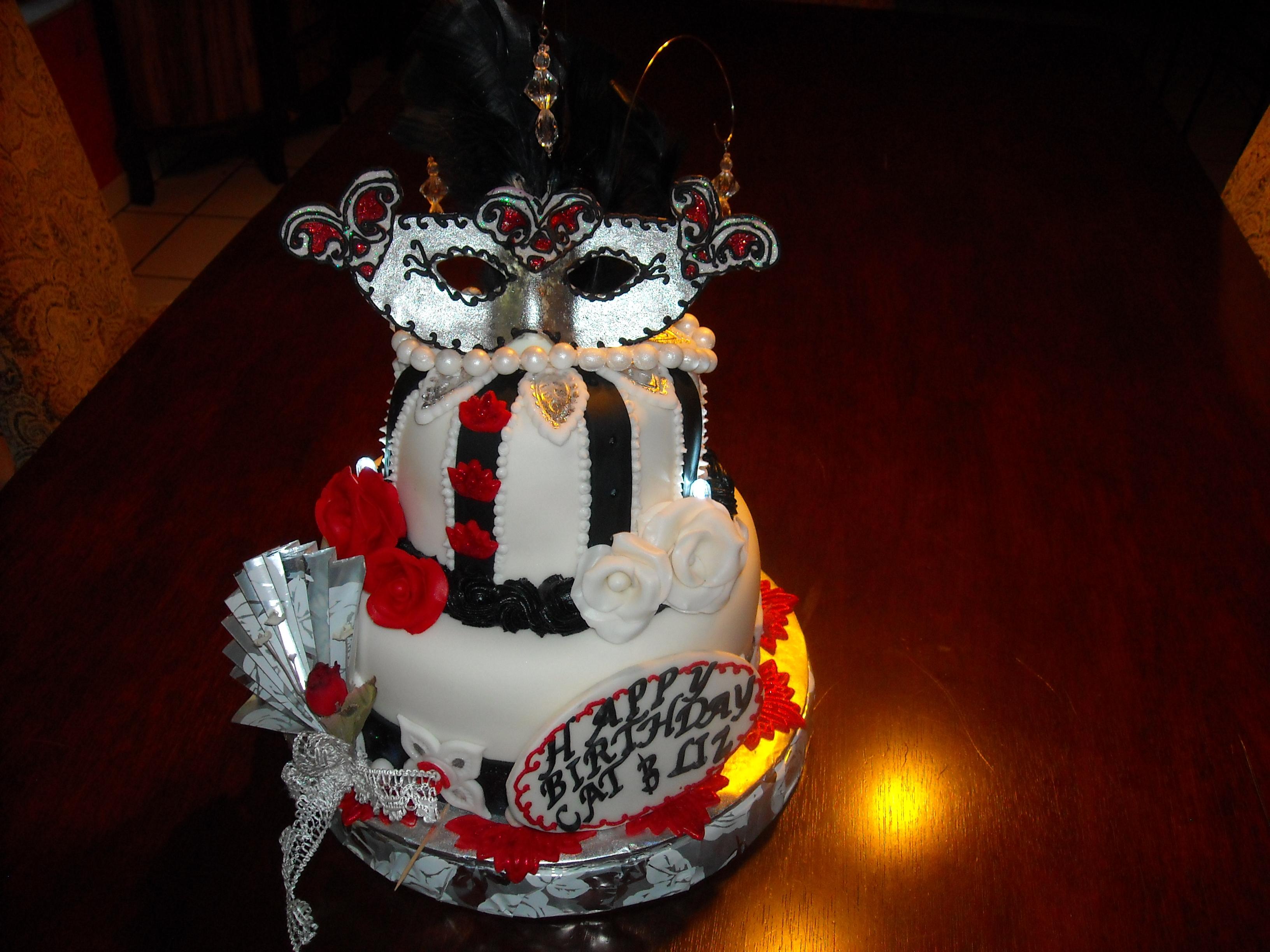 Awe Inspiring 7 Mask For Birthday Cakes Photo Masquerade Mask Birthday Cake Funny Birthday Cards Online Alyptdamsfinfo