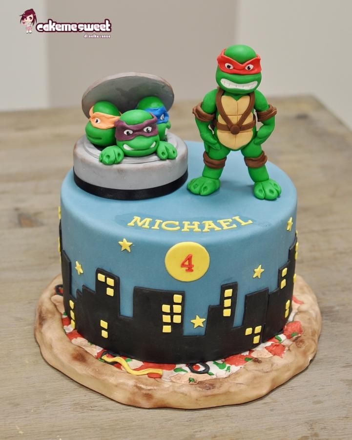 12 Gravity Tmnt Birthday Cakes Photo Ninja Turtle Birthday Cake