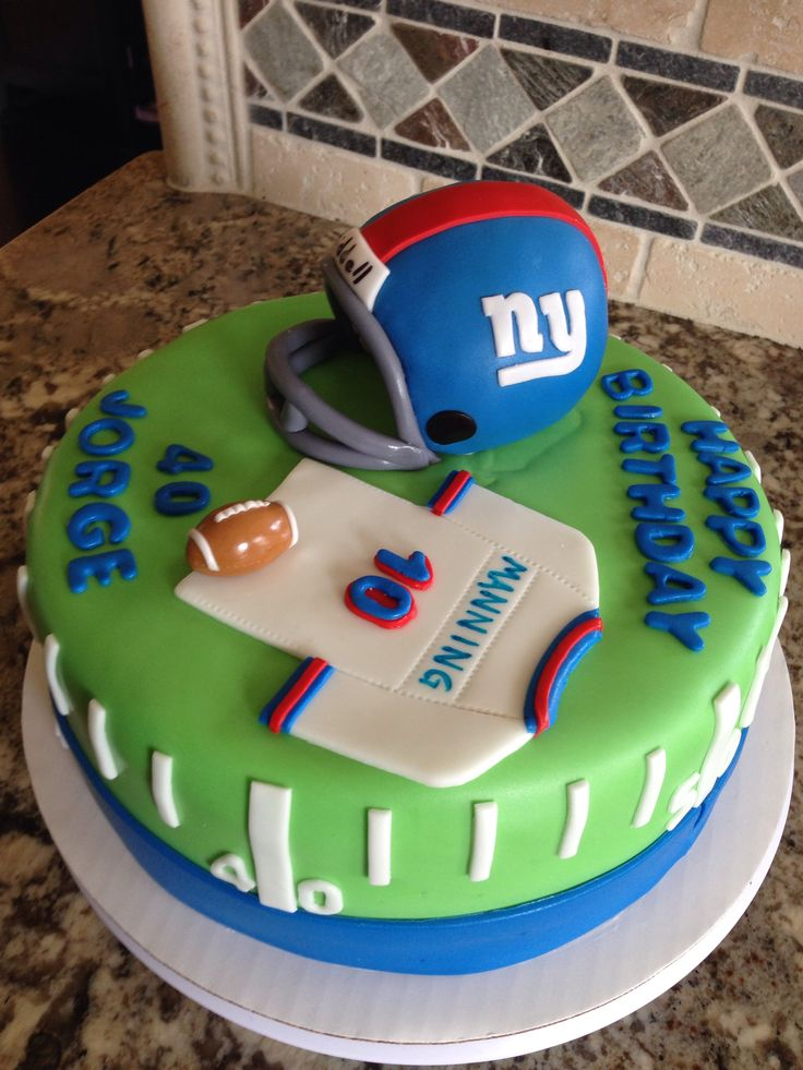 9 New York Giants Birthday Cakes For Men Photo New York Giants