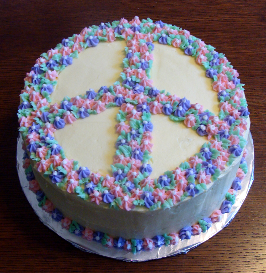 Pleasing 11 Peace Cakes For Birthdays Cupcakes Photo Peace Sign Birthday Personalised Birthday Cards Epsylily Jamesorg