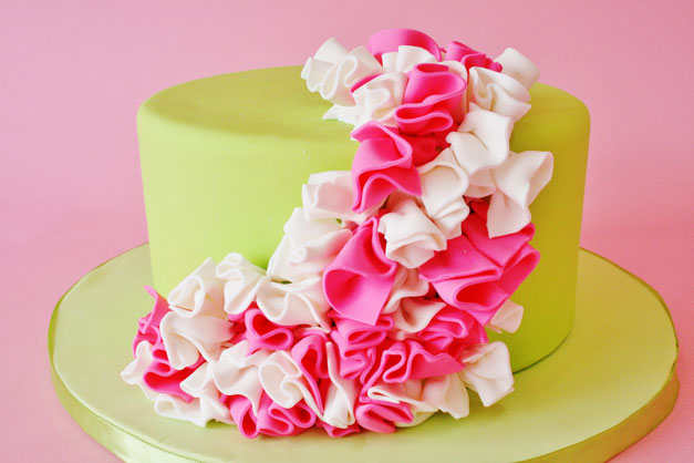 Superb 11 Pink And Green Birthday Cakes For Girls Photo Cute 1St Funny Birthday Cards Online Alyptdamsfinfo