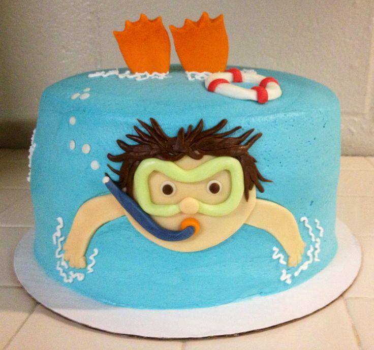 11 Swim Party For Birthday Cakes Photo Swimming Birthday Cake