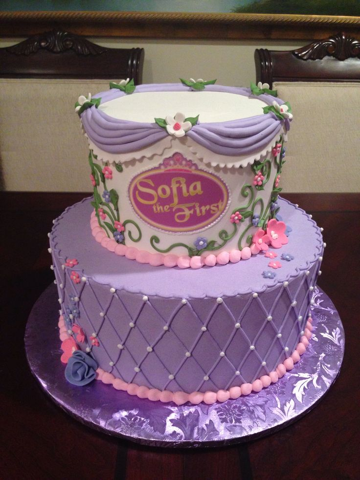 Swell 12 Sofia First Princess Birthday Cakes Photo Sofia The First Birthday Cards Printable Benkemecafe Filternl