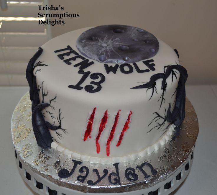 12 Teen Wolf Birthday Cakes Photo Wolf Cake Teen Wolf Birthday