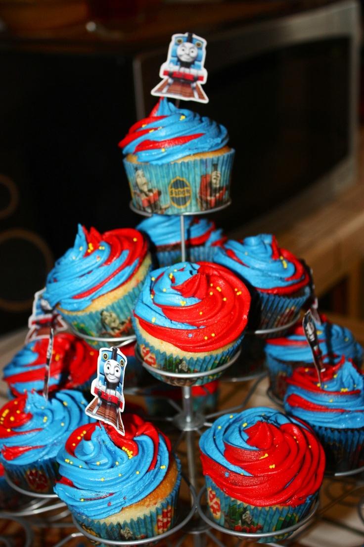 11 Cupa Cakes Thomas Birthday Cake Photo Thomas The Train Cupcake