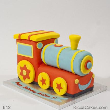 Train Birthday Cake Boy