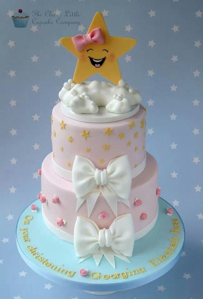12 Small Star Cakes Photo Twinkle Little Star Baby Shower Cake