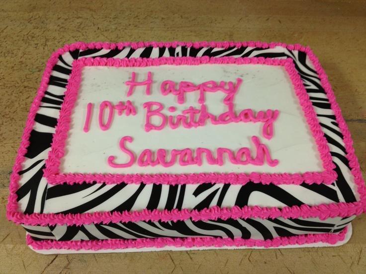 Walmart Zebra Print Sheet Cake