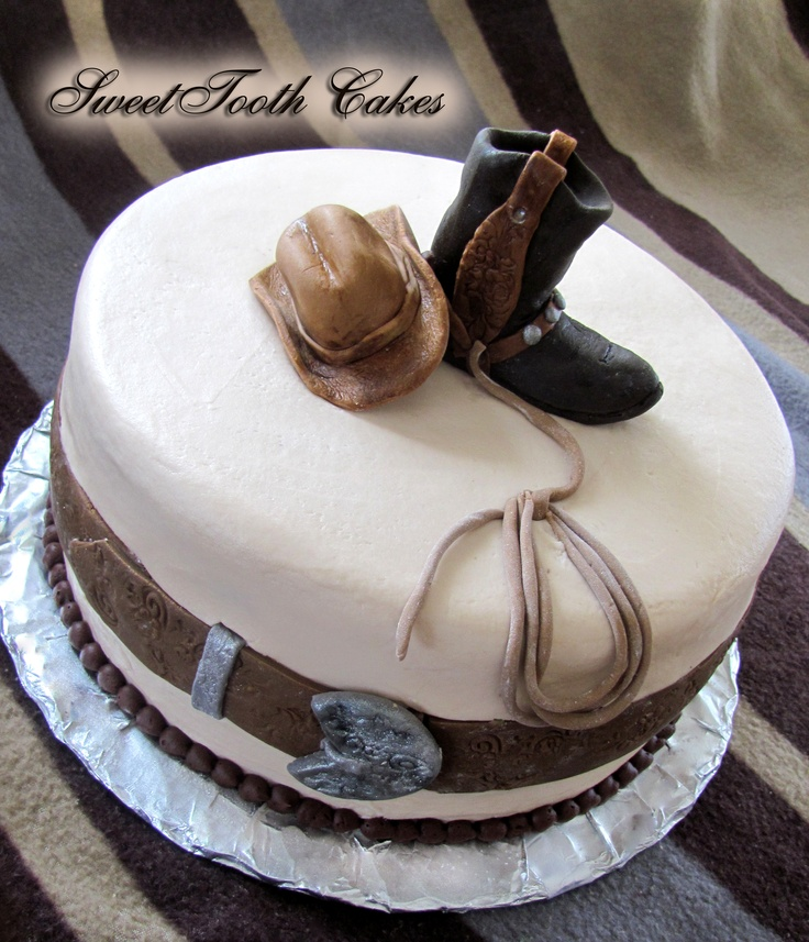 12 Cowboy Birthday Cakes For Men Photo Western Birthday Cake Ideas