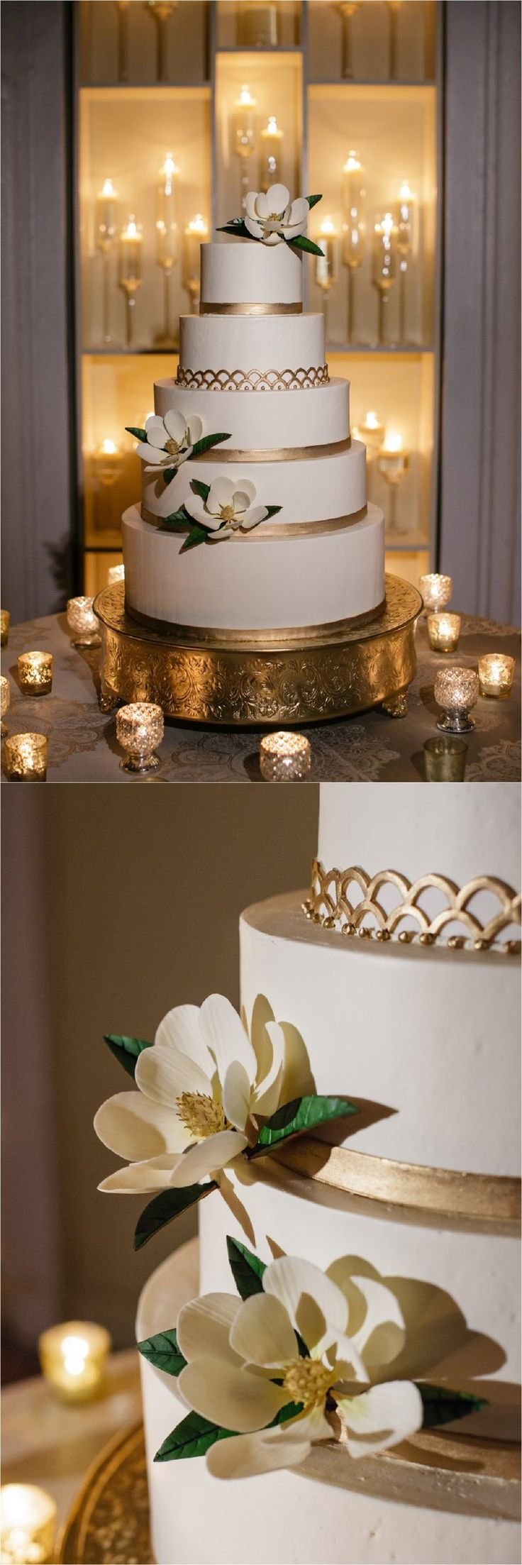 8 Champagne And White Contemporary Wedding Cakes Photo Champagne