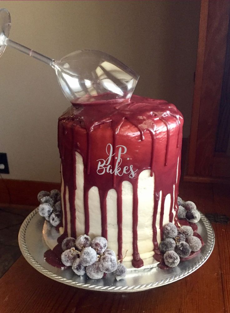 12 50th Birthday Cakes Wine Theme Photo
