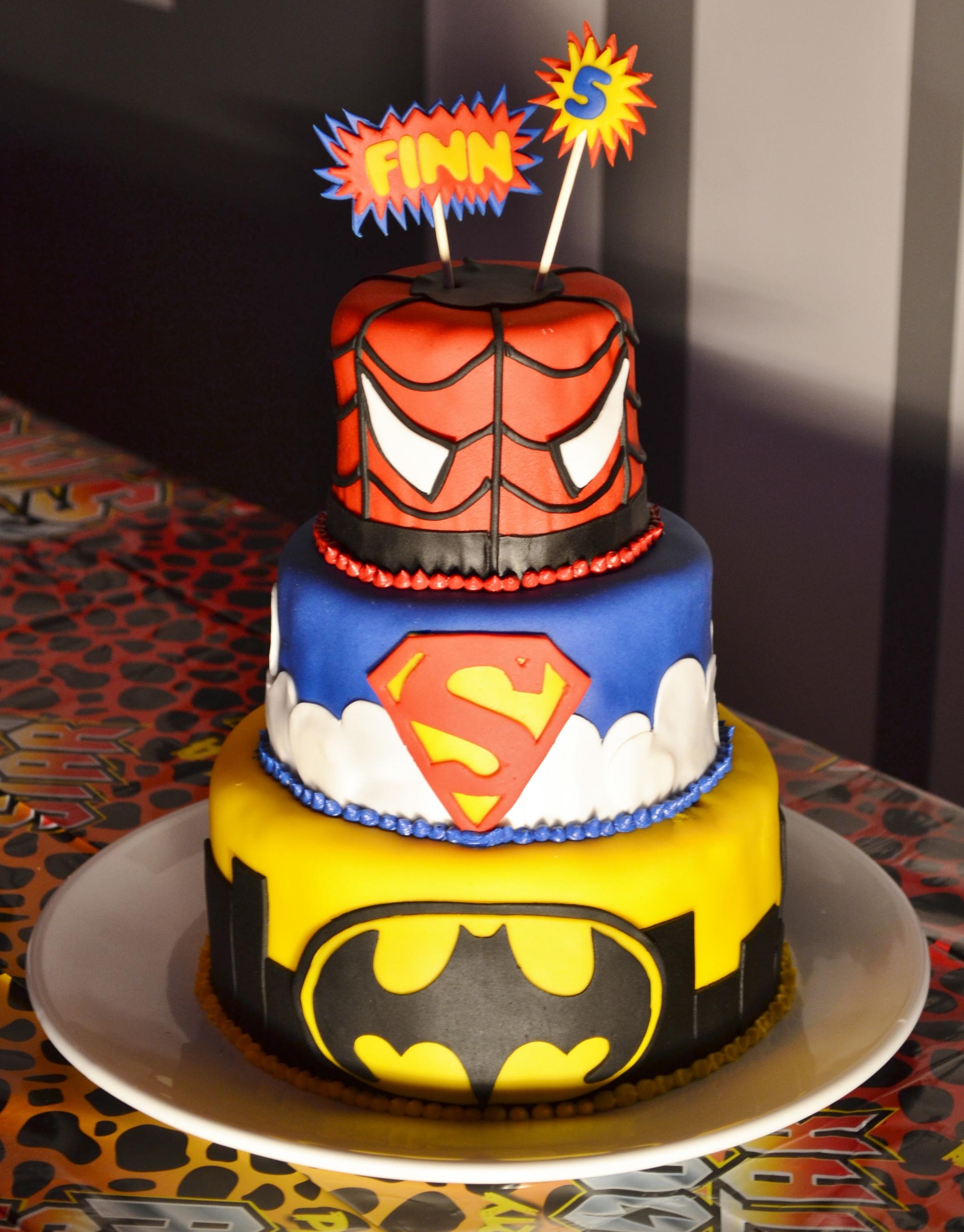 5 Year Old Boy Superhero Birthday Cakes