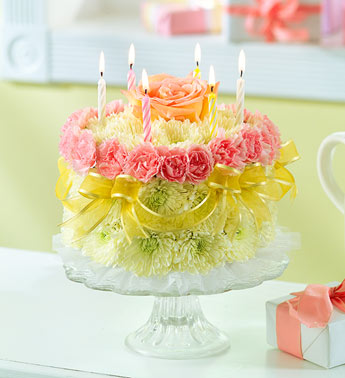 Birthday Cakes With Real Flowers