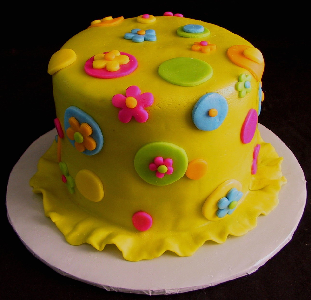 9 Yellow Anniversary Cakes Photo Blue And Yellow Birthday Cake