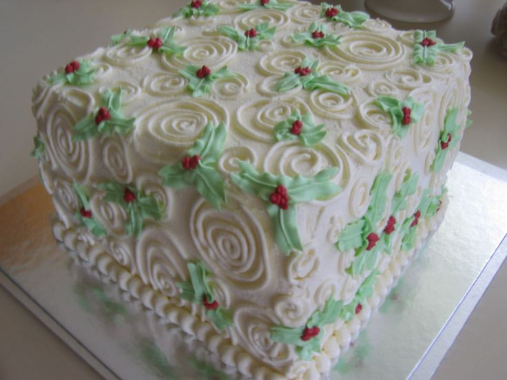 Christmas Cake Decorating Ideas With Buttercream.12 Buttercream Decorated Cakes Christmas Photo Christmas