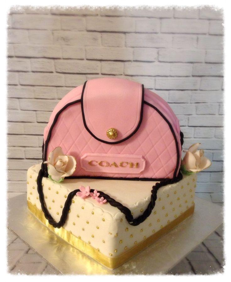 5 Designer Handbag Cakes Coach Denim Photo - Coach Purse Cake
