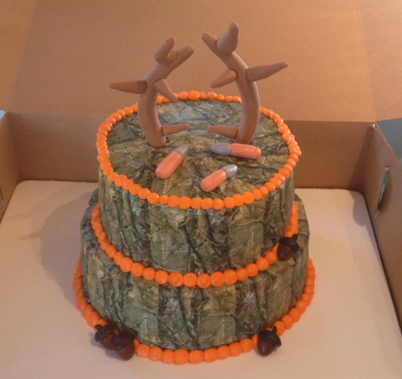 Astounding 12 Hunter Camo Cakes Photo Deer Hunting Camo Birthday Cake Deer Birthday Cards Printable Opercafe Filternl