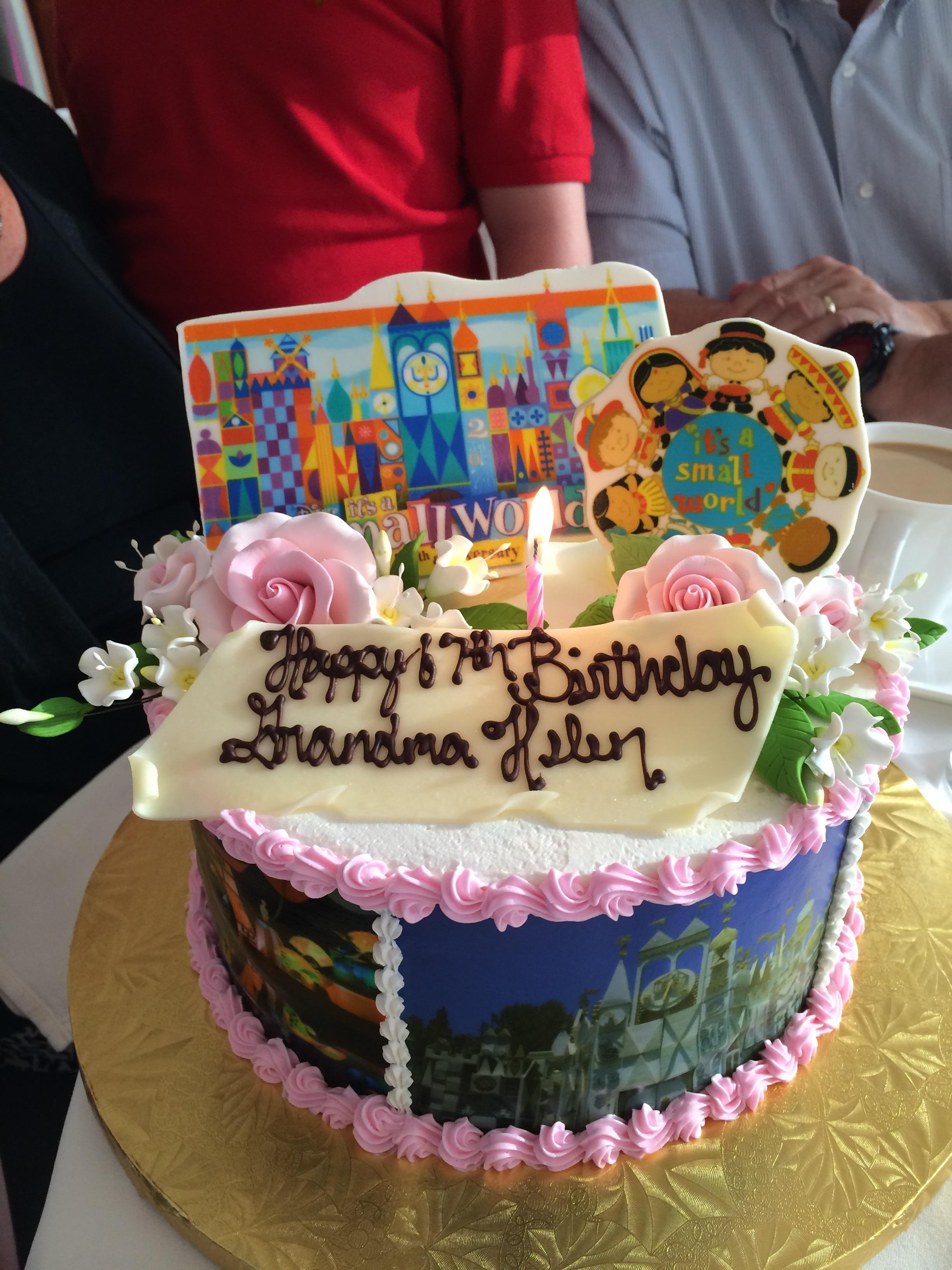 Disney World Birthday Cake