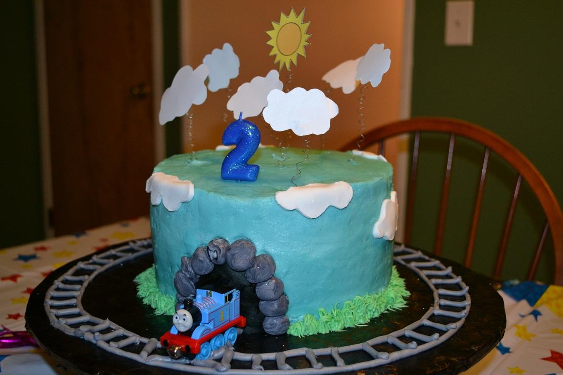 Easy Thomas The Train Birthday Cake