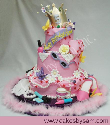 Sensational 11 Fancy Little Girls Birthday Cakes Photo Fancy Nancy Birthday Funny Birthday Cards Online Overcheapnameinfo