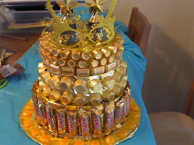 Stupendous 12 Golden Year Birthday Cakes Photo Golden Birthday Cake Ideas Personalised Birthday Cards Xaembasilily Jamesorg