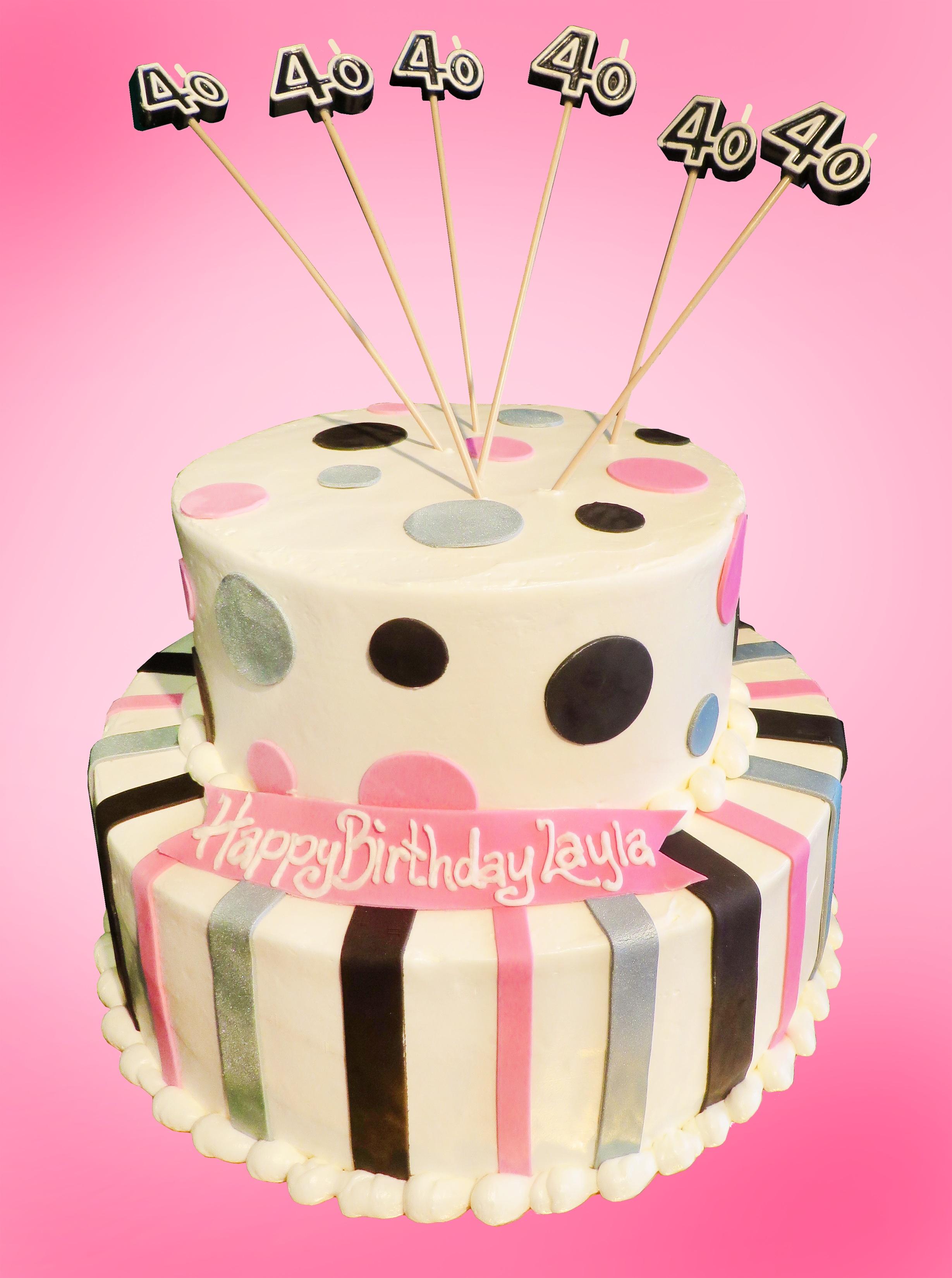 13 Happy 40th Bday Cakes Photo Happy 40th Birthday Cake 40th