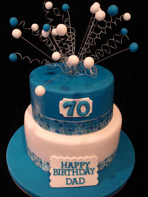 Happy Birthday Cake 70th Dad