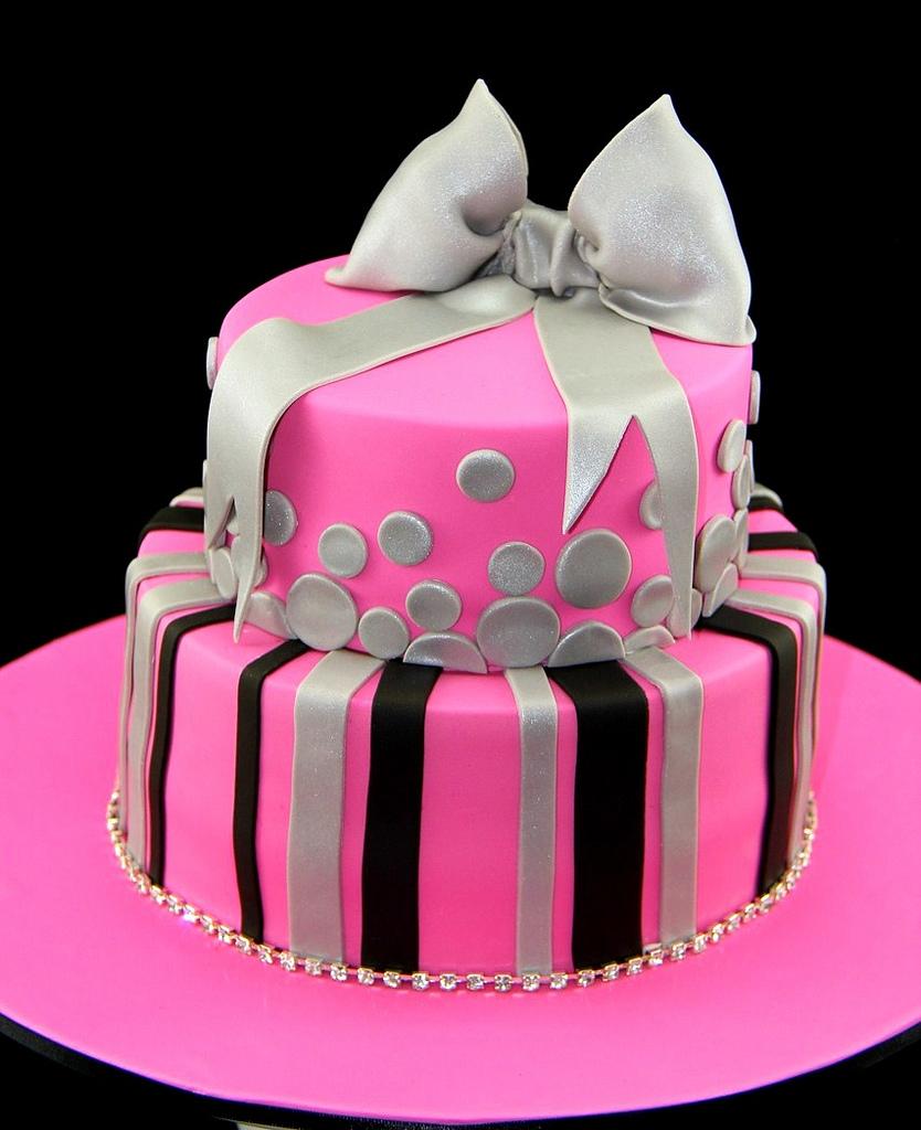Awe Inspiring 12 Hot Pink Birthday Cakes Photo Hot Pink Zebra Stripe Birthday Funny Birthday Cards Online Overcheapnameinfo