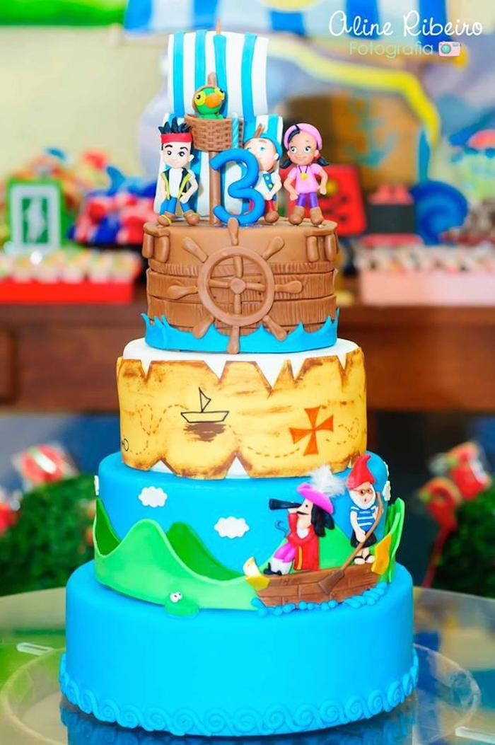 Fine 9 Pirate Party Ideas Jake And The Cakes Photo Diy Jake And The Funny Birthday Cards Online Inifodamsfinfo