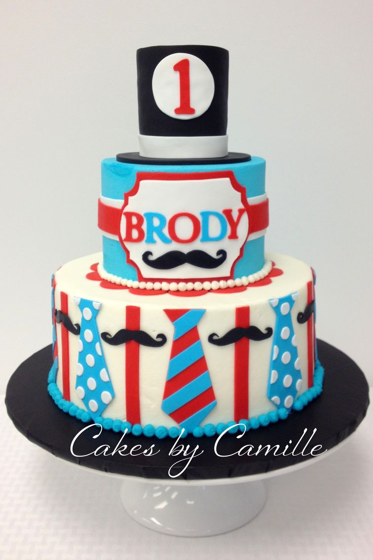 11 The Little Man Themed Birthday Cakes Photo Little Man Mustache