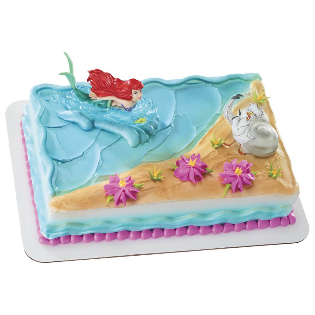 Little Mermaid And Scuttle Cake