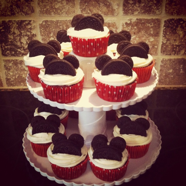 12 Mickey Baby Shower Cupcakes Photo Mickey Mouse Baby Shower