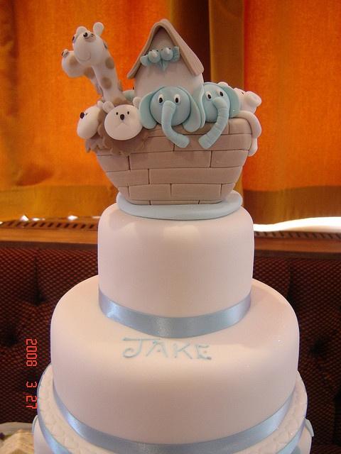 Noah's Ark Christening Cake Topper