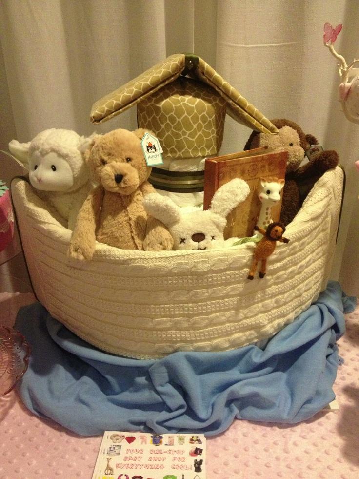 Noah's Ark Diaper Cake