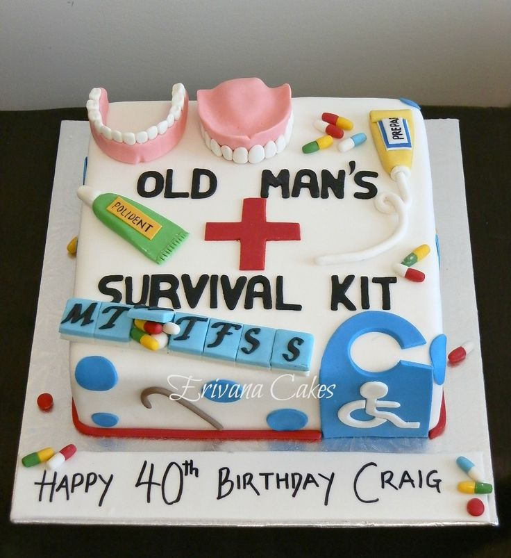 6 50 Years Old Men Birthday Cakes Photo Elegant Man