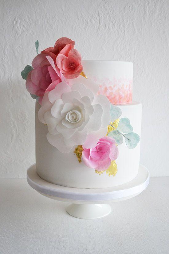 9 wedding cakes rice paper photo rice paper cake wedding light rice paper flowers wedding cake mightylinksfo