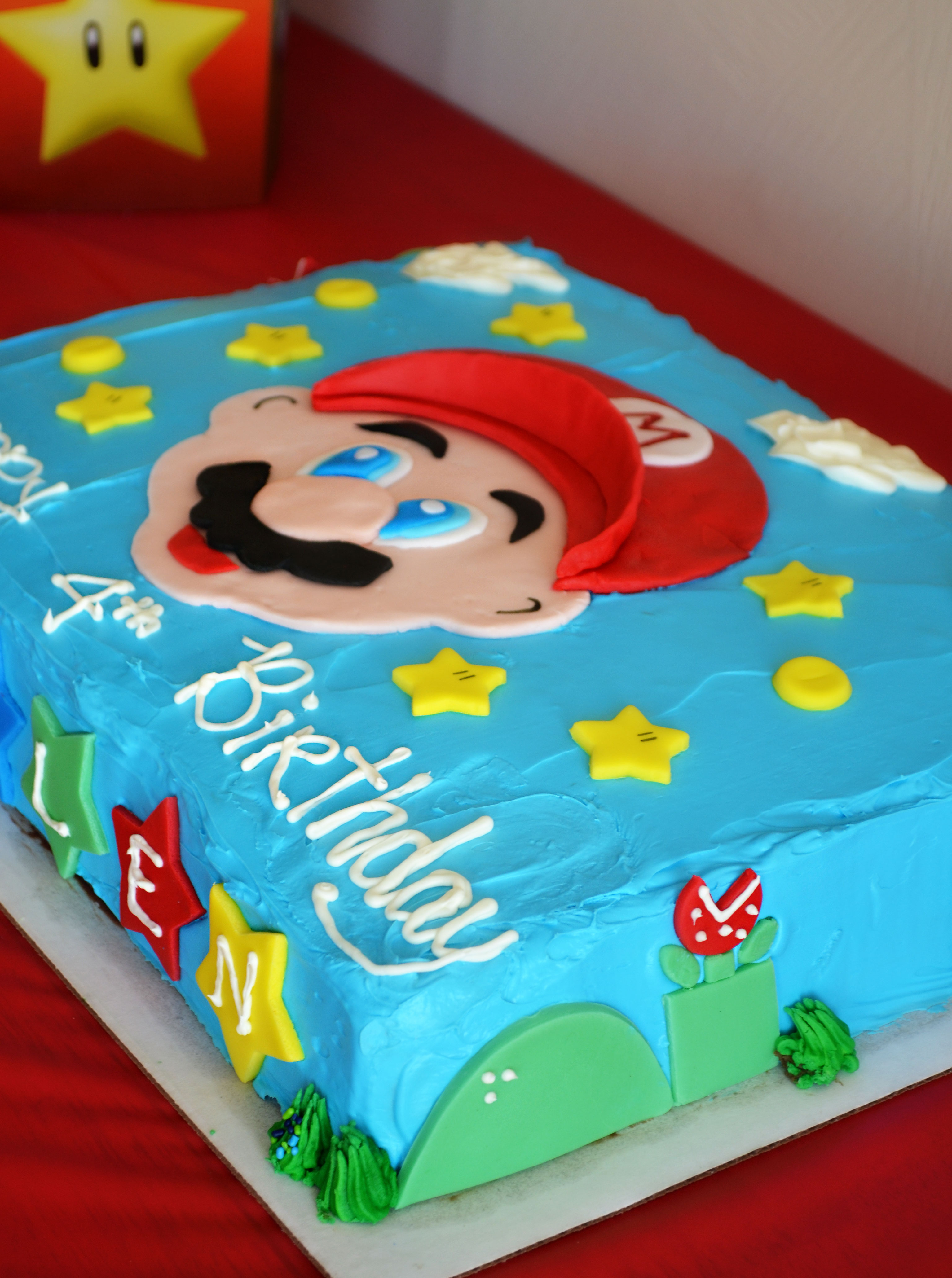 Super 9 Simple Super Mario Brothers Cakes Photo Super Mario Birthday Funny Birthday Cards Online Fluifree Goldxyz